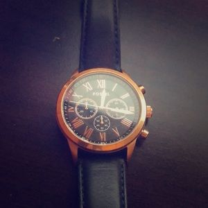 Fossil Watch! Gold and Blue Face